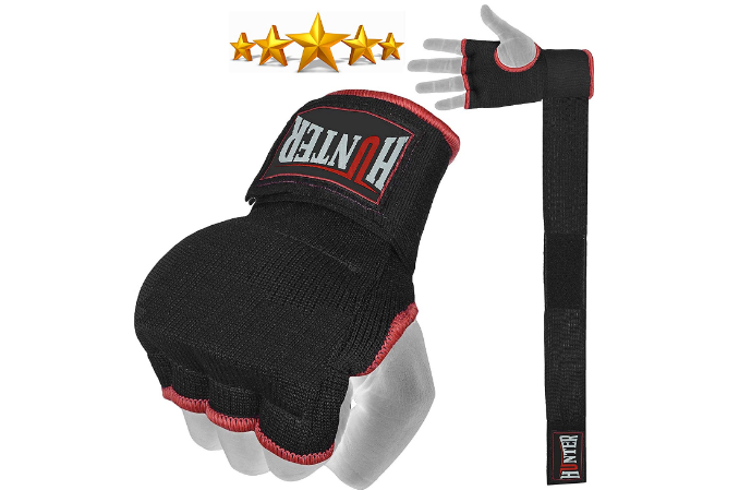 Hunter Padded Inner Gloves Training Gel Elastic Hand Wraps for Boxing Gloves Quick Wraps